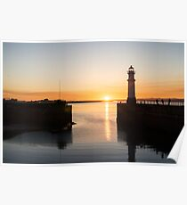 Newhaven Harbour and Light House Poster