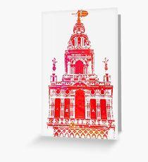 Seville - Giralda Red Greeting Card