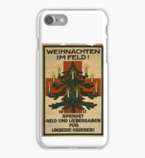 German WWI Christmas Poster iPhone Case/Skin