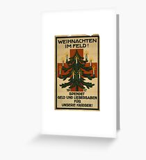 German WWI Christmas Poster Greeting Card
