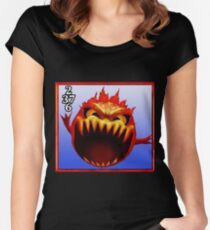 Final Fantasy VIII - Bomb Monster Women's Fitted Scoop T-Shirt