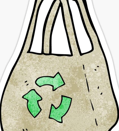 reusable bag cartoon Sticker