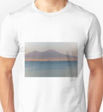 Landscape of Naples, with Vesuvius with snow T-Shirt