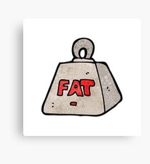 cartoon weight with fat text Canvas Print