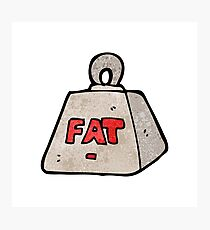 cartoon weight with fat text Photographic Print