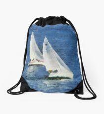 Yacht Race Drawstring Bag