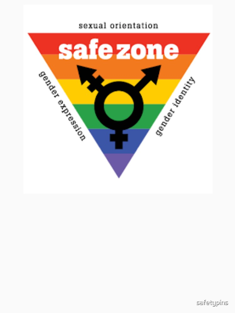 Lgbt Safe Zone Equality Womens Fitted V Neck T Shirt By