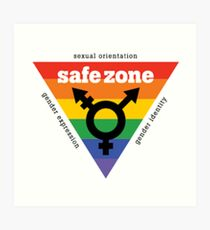 LGBT+ Safe Zone Equality Art Print