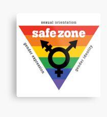 LGBT+ Safe Zone Equality Metal Print