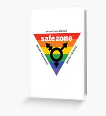LGBT+ Safe Zone Equality Greeting Card