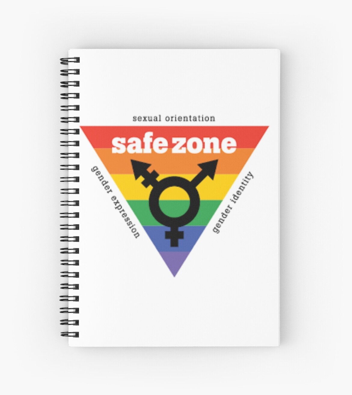 Lgbt Safe Zone Equality Spiral Notebooks By Safetypins Redbubble