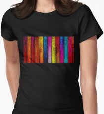 Colourful Old Wood Women's Fitted T-Shirt