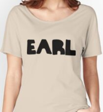 Earl Version 1 Black Ink Women's Relaxed Fit T-Shirt