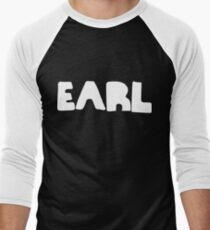 Earl White Ink Men's Baseball ¾ T-Shirt
