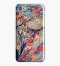 The Butterflies on Blue iPhone Case/Skin
