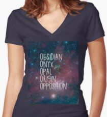 The Lux Series - Galaxy Women's Fitted V-Neck T-Shirt