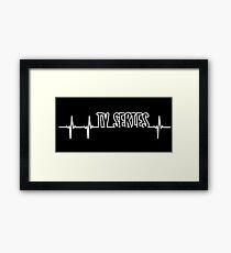 tv series - heartbeat Framed Print
