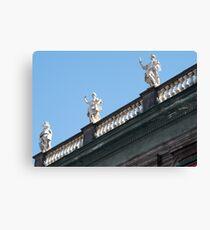 Naples, characteristic balcony Canvas Print