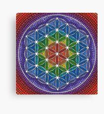 Rainbow Flower of Life Canvas Print