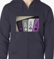 The Asexuality Blog - Four Aces Logo Zipped Hoodie