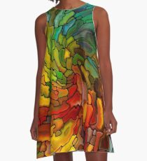 Stained GLass Colorful A-Line Dress