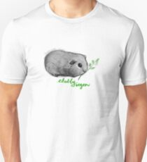 Chubby Vegan - Guinea Pig with Leaves Unisex T-Shirt