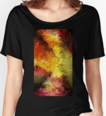 Lines Creative Bright Colors Women's Relaxed Fit T-Shirt