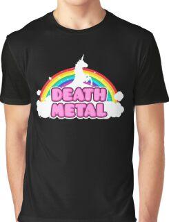 Unicorn Rainbow Death Metal Graphic T-Shirt