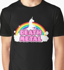 Unicorn Rainbow Death Metal Graphic T-Shirt
