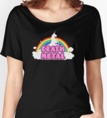 Unicorn Rainbow Death Metal Women's Relaxed Fit T-Shirt