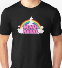 Unicorn Rainbow Death Metal T-Shirt