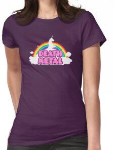 Unicorn Rainbow Death Metal Womens Fitted T-Shirt