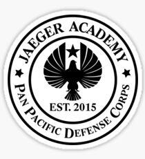 Jaeger Academy logo in black! Sticker
