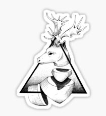 Metaphisical Deer Sticker
