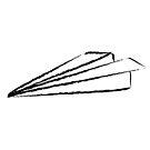Papierflieger-Skizze von Viktoriia