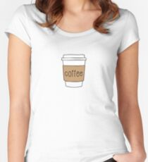 Coffee Cup Fitted Scoop T-Shirt
