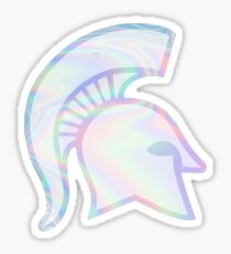 Holographic Spartan Sticker
