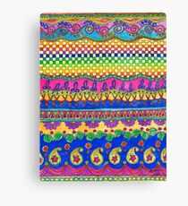 Color Borders Galore Canvas Print