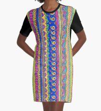 Color Borders Galore Graphic T-Shirt Dress