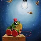 Light Snacks original whimsical still life by LindaAppleArt