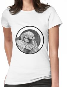 Three eyed Crow Womens Fitted T-Shirt