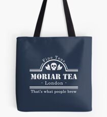 MoriarTea: What People Brew (white) Tote Bag