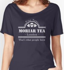 MoriarTea: What People Brew (white) Women's Relaxed Fit T-Shirt