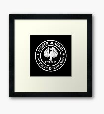 Jaeger Academy logo in white! Framed Print