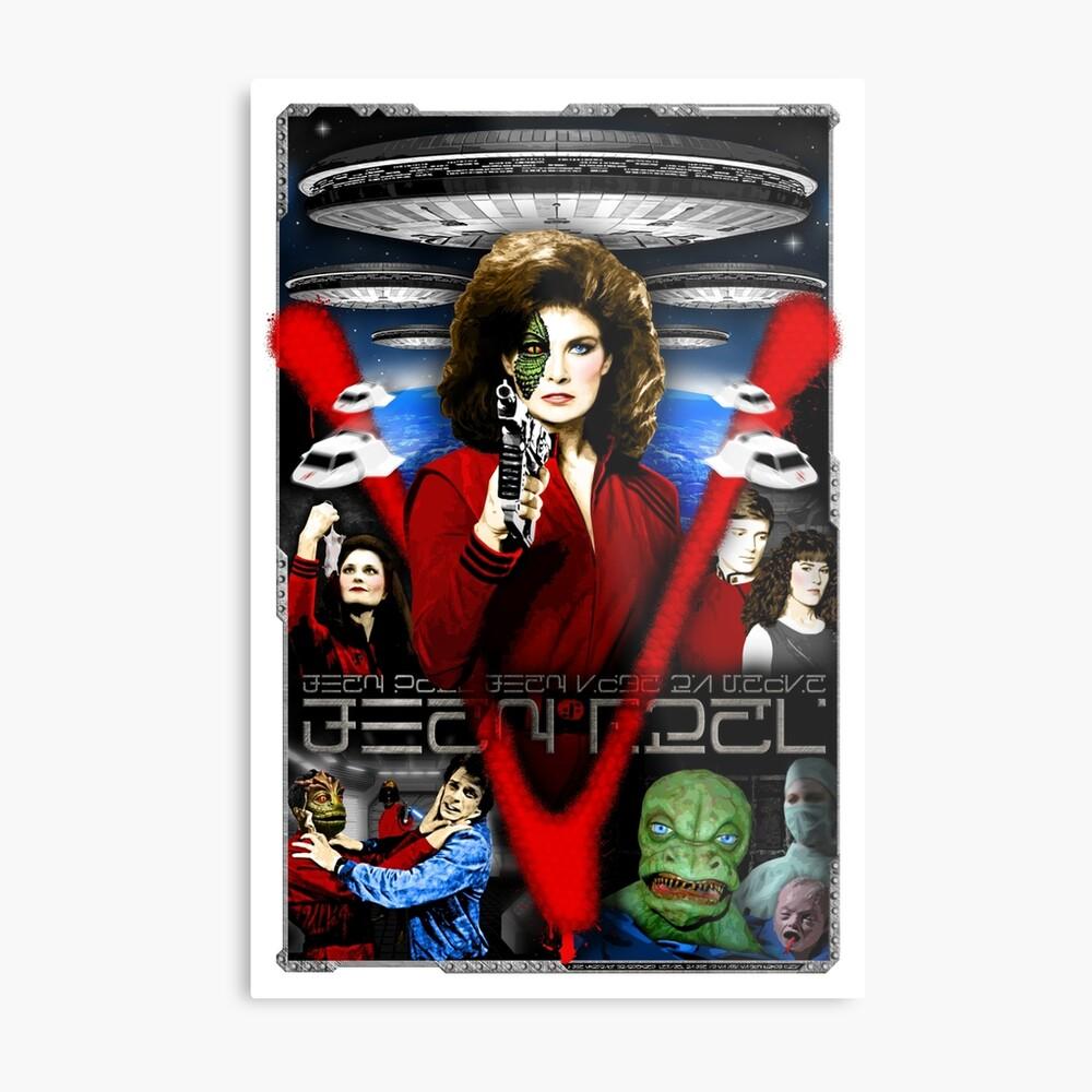 V TV Show Visitor Alien Diana | Metal Print