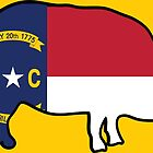 North Carolina Flag (BBQ Style) by Rich Anderson