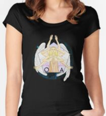 The movements of the angel Women's Fitted Scoop T-Shirt
