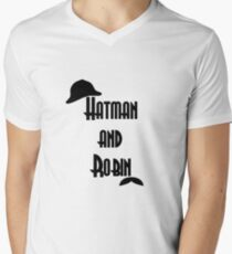 Hatman and Robin - Sherlock Men's V-Neck T-Shirt