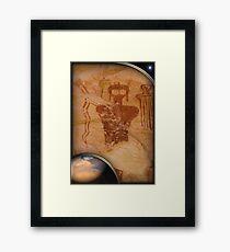 ancient mars Framed Print