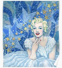 Marylin Monroe,  Old Hollywood, fine art, portrait, blue shades Poster